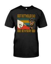 BEST Rottweiler DAD EVER Classic T-Shirt front