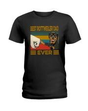 BEST Rottweiler DAD EVER Ladies T-Shirt thumbnail