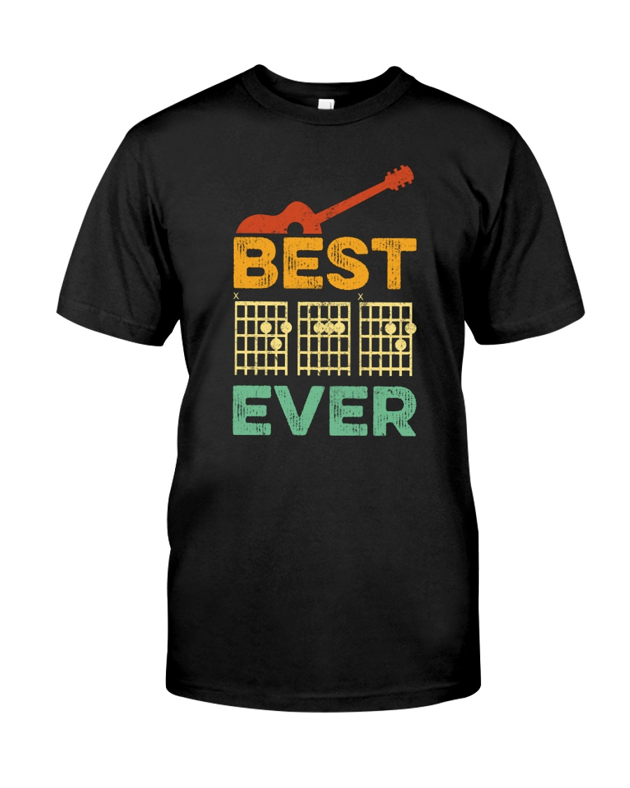 BEST DAD EVER GUITAR MUSIC Classic T-Shirt