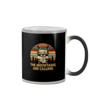THE MEOWTAINS ARE CALLING Color Changing Mug thumbnail