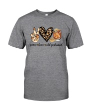 PEACE LOVE OLD FASHIONED Classic T-Shirt front