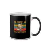 RAMEN SHALL FUEL MY GENIUS VINTAGE CAT Color Changing Mug thumbnail