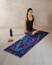 SUN TAPESTRY Yoga Mat 70x24 (horizontal) aos-yoga-mat-lifestyle-18