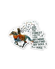 AND INTO THE FOREST  I GO Sticker - 4 pack (Vertical) front