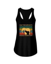 ONLY THE ELEPHANTS SHOULD WEAR IVORY VINTAGE Ladies Flowy Tank thumbnail