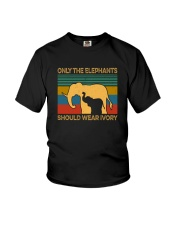 ONLY THE ELEPHANTS SHOULD WEAR IVORY VINTAGE Youth T-Shirt thumbnail
