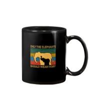 ONLY THE ELEPHANTS SHOULD WEAR IVORY VINTAGE Mug thumbnail