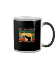ONLY THE ELEPHANTS SHOULD WEAR IVORY VINTAGE Color Changing Mug thumbnail
