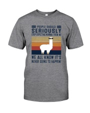 STOP EXPECTING NORMAL FROM ME LLAMA Classic T-Shirt front