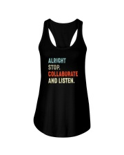 ALRIGHT STOP COLLABORATE AND LISTEN Ladies Flowy Tank thumbnail