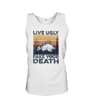LIVE UGLY FAKE YOUR DEATH a Unisex Tank thumbnail