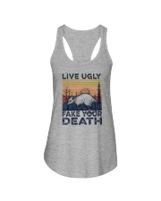 LIVE UGLY FAKE YOUR DEATH a Ladies Flowy Tank thumbnail