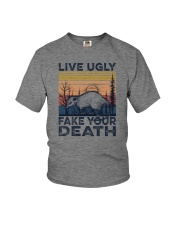 LIVE UGLY FAKE YOUR DEATH a Youth T-Shirt thumbnail