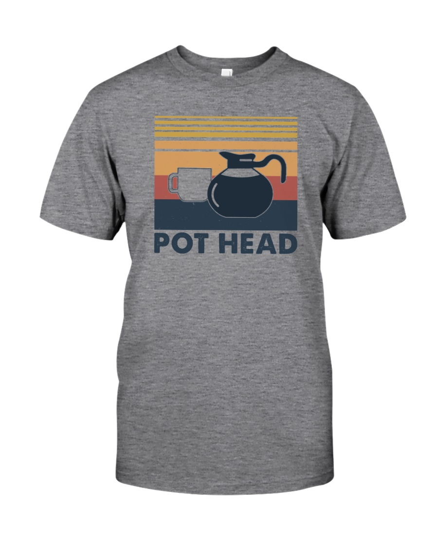 POT HEAD FUNNY COFFEE Classic T-Shirt