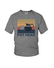 POT HEAD FUNNY COFFEE Youth T-Shirt thumbnail