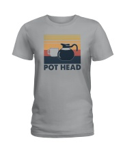 POT HEAD FUNNY COFFEE Ladies T-Shirt thumbnail