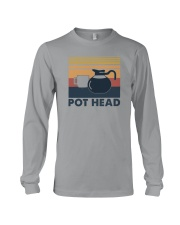 POT HEAD FUNNY COFFEE Long Sleeve Tee thumbnail