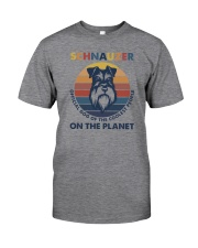 SCHNAUZER OFFICIAL DOG OF THE COOLEST PEOPLE Classic T-Shirt front