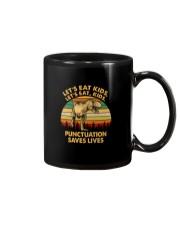 LET'S EAT KIDS PUNCTUATION SAVES LIVES Mug thumbnail