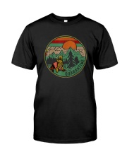RETRO VINTAGE QUARANTINE FUNNY CAMPING Classic T-Shirt front
