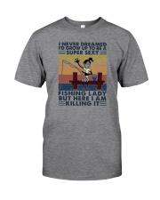 SUPER FISHING LADY Classic T-Shirt front