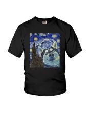 STARRY NIGHT HUSKY Youth T-Shirt thumbnail