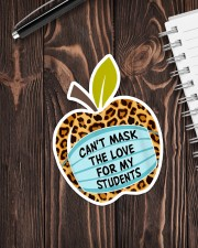 CAN'T MASK THE LOVE FOR MY STUDENTS LEOPARD Sticker - Single (Vertical) aos-sticker-single-vertical-lifestyle-front-05