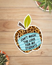 CAN'T MASK THE LOVE FOR MY STUDENTS LEOPARD Sticker - Single (Vertical) aos-sticker-single-vertical-lifestyle-front-07