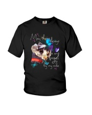 MAY THERE BE AN ANGEL BY MY SIDE SCHNAUZER Youth T-Shirt thumbnail