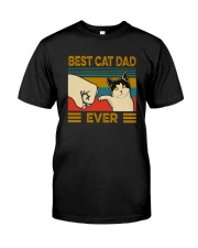 BEST CAT DAD EVER VT Classic T-Shirt front
