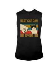 BEST CAT DAD EVER VT Sleeveless Tee thumbnail