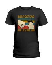 BEST CAT DAD EVER VT Ladies T-Shirt thumbnail