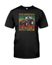 OLD MAN WITH A TRACTOR Classic T-Shirt front