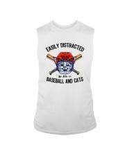EASILY DISTRACTED BY CATS AND BASEBALL Sleeveless Tee thumbnail
