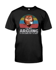 I'M NOT ARGUING COFFEE VINTAGE OWL Classic T-Shirt tile