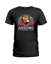 I'M NOT ARGUING COFFEE VINTAGE OWL Ladies T-Shirt thumbnail