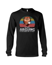 I'M NOT ARGUING COFFEE VINTAGE OWL Long Sleeve Tee thumbnail