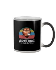 I'M NOT ARGUING COFFEE VINTAGE OWL Color Changing Mug thumbnail
