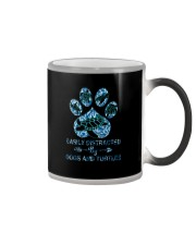 EASILY DISTRACTED BY DOGS AND TURTLES Color Changing Mug thumbnail