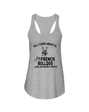 CARE FRENCH BULLDOG AND LIKE THREE PEOPLE Ladies Flowy Tank thumbnail