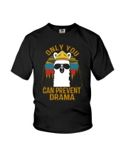 ONLY YOU CAN PREVENT DRAMA Youth T-Shirt thumbnail