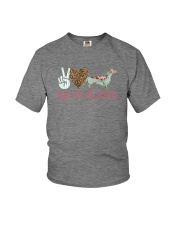 PEACE LOVE DACHSHUNDS Youth T-Shirt thumbnail