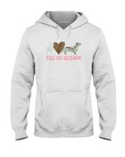 PEACE LOVE DACHSHUNDS Hooded Sweatshirt thumbnail