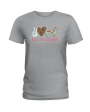 PEACE LOVE DACHSHUNDS Ladies T-Shirt thumbnail