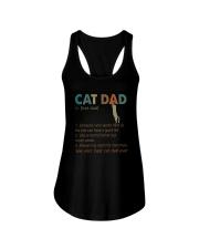 CAT DAD noun Ladies Flowy Tank thumbnail