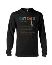 CAT DAD noun Long Sleeve Tee thumbnail