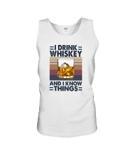 I DRINK WHISKEY AND I KNOW THINGS Unisex Tank thumbnail