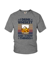 I DRINK WHISKEY AND I KNOW THINGS Youth T-Shirt thumbnail