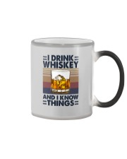 I DRINK WHISKEY AND I KNOW THINGS Color Changing Mug thumbnail