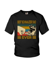BEST SCHNAUZER DAD EVER Youth T-Shirt tile